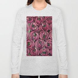 "Charles Rennie Mackintosh ""Roses and teardrops"" Long Sleeve T-shirt"