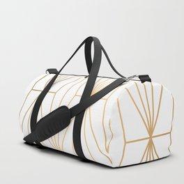 Gold Geometric Pattern Illustration Duffle Bag