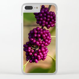 French Mulberry Clear iPhone Case