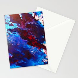 Maroon Flow Stationery Cards