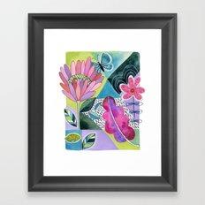 Protea Breeze Framed Art Print