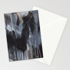 Abstract Black Stationery Cards
