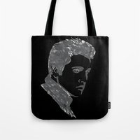 elvis Tote Bags featuring Elvis by Alessia Bogdanich