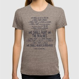 We Shall Fight on the Beaches Quotes T-shirt