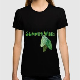 Summer Leaves - White Background T-shirt
