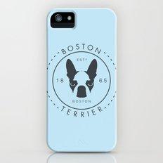 Boston Terrier iPhone (5, 5s) Slim Case