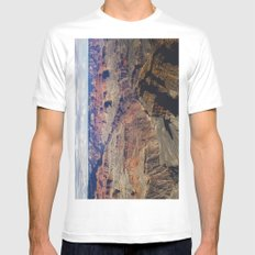 The Grand Canyon South Rim MEDIUM White Mens Fitted Tee