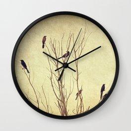 Birds in the Tree II Wall Clock