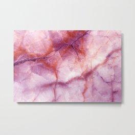 Pink & Purple Marble Metal Print