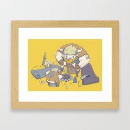 Posturing Vikings Framed Art Print