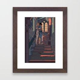 Secret and Sad farewell Framed Art Print