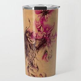 Biro flower illustration Travel Mug