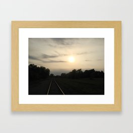 Rails And Fields Framed Art Print