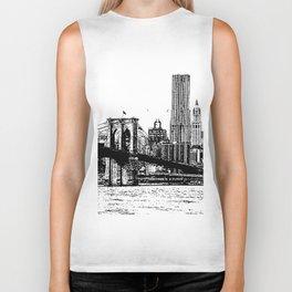 New York line Biker Tank