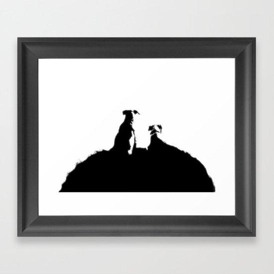 even dogs fall in love Framed Art Print