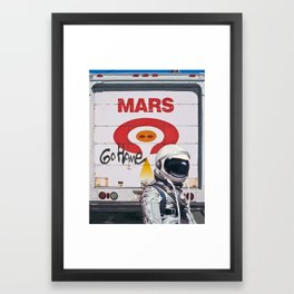 Mars Go Home Framed Art Print
