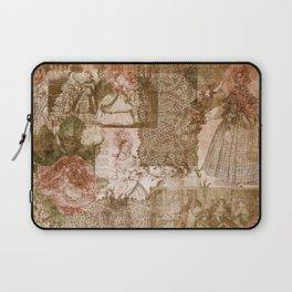 Vintage & Shabby Chic - Victorian ladies pattern Laptop Sleeve