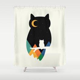 Eye On Owl Shower Curtain