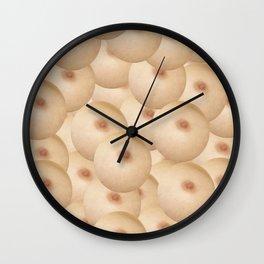 bubbles boobs Wall Clock