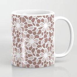 White Lace Seamless Pattern. Coffee Mug