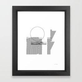 Thin lines Framed Art Print