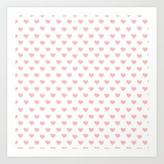 Lovely Pink Hearts Art Print