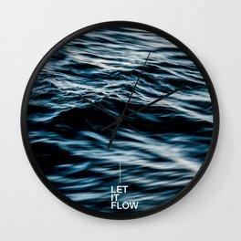 Let it Flow Wall Clock