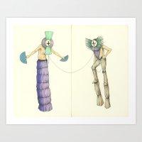 Apollo & Venus & Thirty Yards of Fabric Art Print