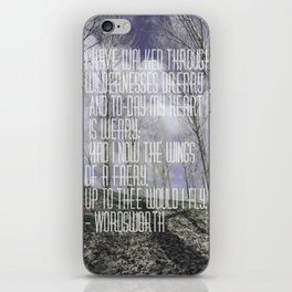 Wordsworth iPhone Skin