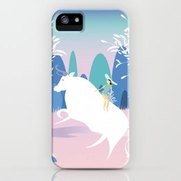 The Girl and the Bull in the Meadow iPhone Case
