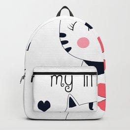 CAT CARTOON #LITTLE HEART Backpack