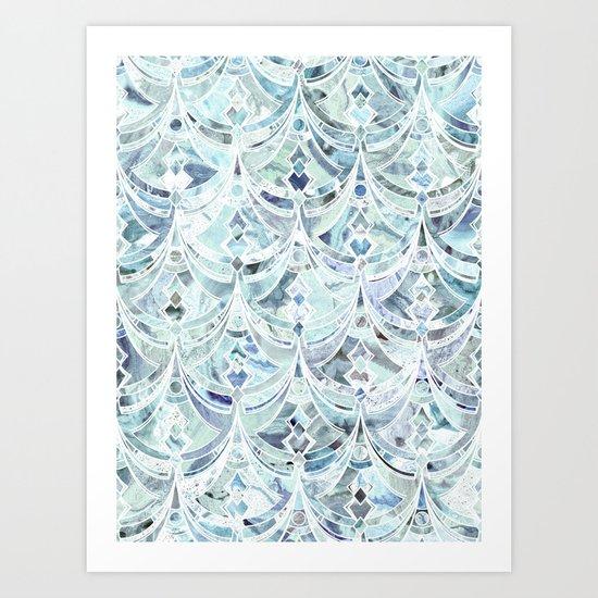 Ice and Diamonds Art Deco Pattern Art Print