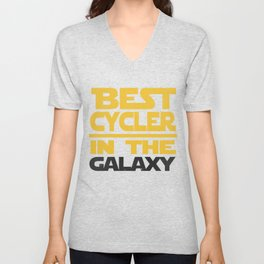 Best Cycler In The Galaxy Funny Gift Unisex V-Neck