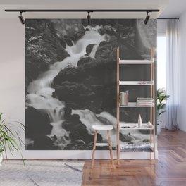 Fairy Falls Stream - Black and White Wall Mural