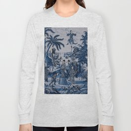 17th Century Delftware Chinoiserie Long Sleeve T-shirt