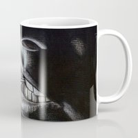 lou reed Mugs featuring Lou Reed Is Dead by Tom Christophersen Creates