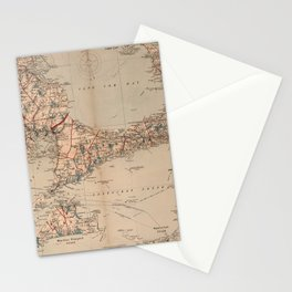 Vintage Map of Cape Cod MA (1905) Stationery Cards
