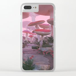 Mushroom Forest Clear iPhone Case