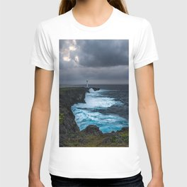 Storm Brewing Over the Cape Zanpa Lighthouse T-shirt