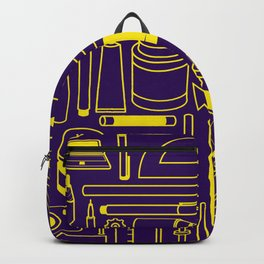 Art Supplies - Eggplant and Yellow Backpack