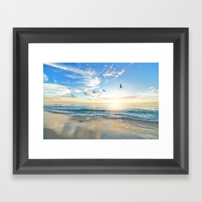 Beach Scene 34 Gerahmter Kunstdruck
