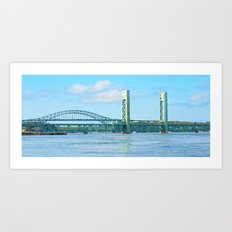 Bridge at Portsmouth Harbor Art Print