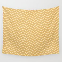 Mustard Chevron Wall Tapestry