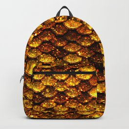 Glitter Gold Mermaid Scales Backpack