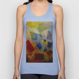 Otto Freundlich Komposition 1939 Mid Century Modern Abstract Colorful Geometric Painting Pattern Art Unisex Tank Top