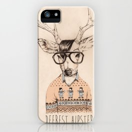 Deerest hipster iPhone Case