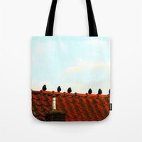 gossip girl Tote Bags featuring Gossip by Mr and Mrs Quirynen