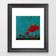 Flowers: Poppy Framed Art Print
