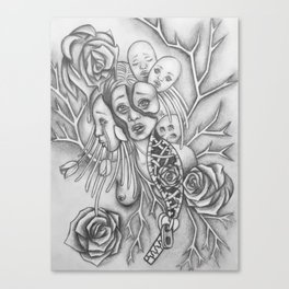 Rooted Problems-Drawing Illustration Canvas Print