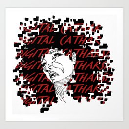digital catharsis Art Print